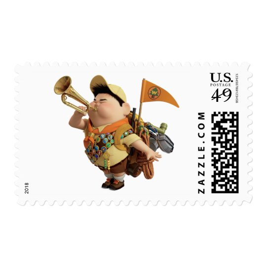 Russell blowing bugle - Disney Pixar UP Postage