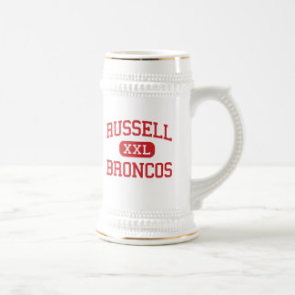 Russell - Broncos - High School - Russell Kansas 18 Oz Beer Stein