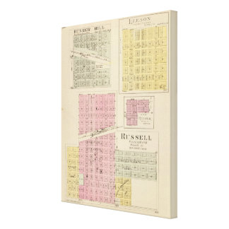 Russell, Bunker Hill, Leeson, Reeder, Kansas Canvas Print