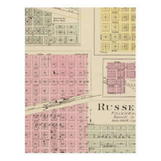 Russell, Bunker Hill, Leeson, Reeder, Kansas Postcard