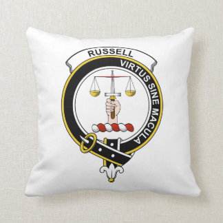Russell Clan Badge Throw Pillow