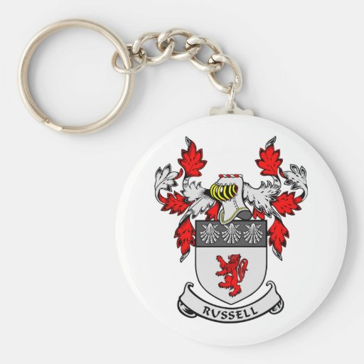 RUSSELL Coat of Arms Basic Round Button Keychain