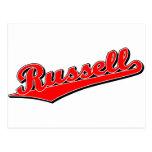 Russell en rojo postales