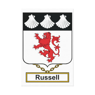 Russell Family Crest Canvas Print