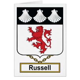 Russell Family Crest Card