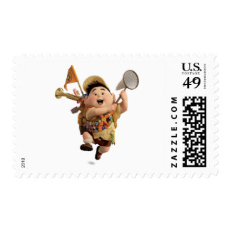 Russell from the Disney Pixar UP Movie Running Postage Stamps