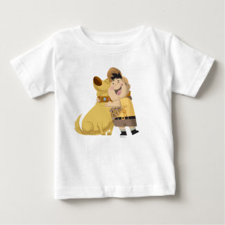 Russell hugging Dug - Pixar UP! Baby T-Shirt