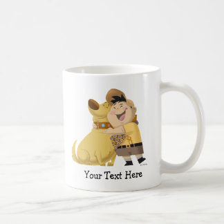 Russell hugging Dug - Pixar UP! Coffee Mug