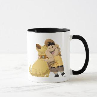 Russell hugging Dug - Pixar UP! Mug