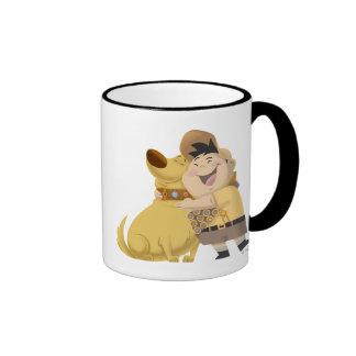 Russell hugging Dug - Pixar UP Mugs