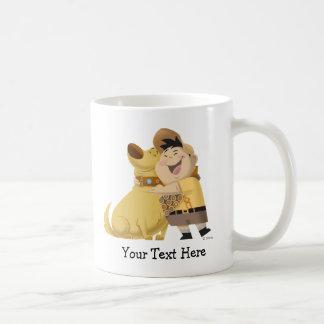 Russell hugging Dug - Pixar UP! Classic White Coffee Mug