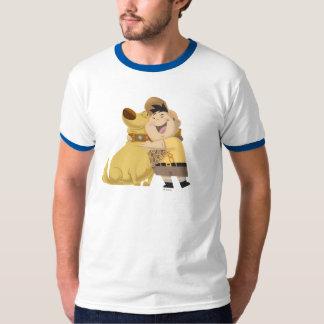 Russell hugging Dug - Pixar UP! T-Shirt