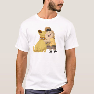 Russell hugging Dug - Pixar UP! T-Shirt