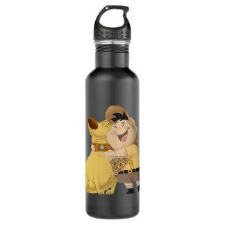 Russell hugging Dug - Pixar UP! Water Bottle