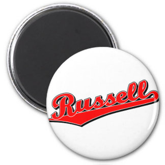 Russell in Red 2 Inch Round Magnet