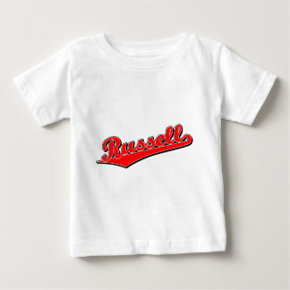 Russell in Red Baby T-Shirt