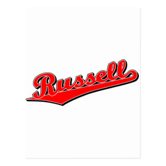 Russell in Red Postcard