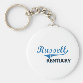 Russell Kentucky City Classic Basic Round Button Keychain