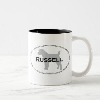Russell Oval Two-Tone Coffee Mug