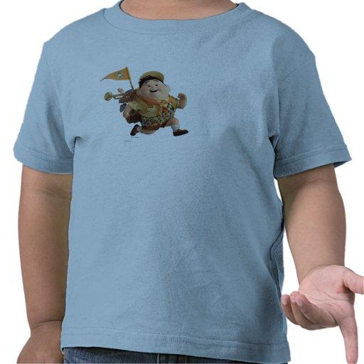 Russell que corre de Disney Pixar PARA ARRIBA Camiseta