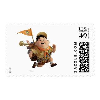 Russell que corre de Disney Pixar PARA ARRIBA Sello