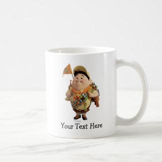 Russell que sonríe - Disney Pixar ENCIMA de la pel Taza De Café