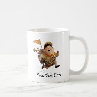 Russell Running from Disney Pixar UP Classic White Coffee Mug