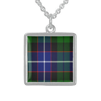 Russell Scottish Tartan Sterling Silver Necklace