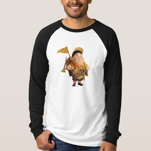 Russell smiling - the Disney Pixar UP Movie T Shirt