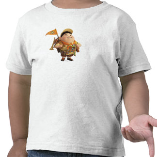 Russell smiling - the Disney Pixar UP Movie Tee Shirts