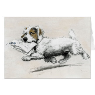 Russell Terrier delivers mail Greeting Card