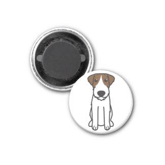 Russell Terrier Dog Cartoon 1 Inch Round Magnet
