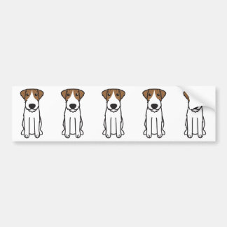 Russell Terrier Dog Cartoon Bumper Sticker
