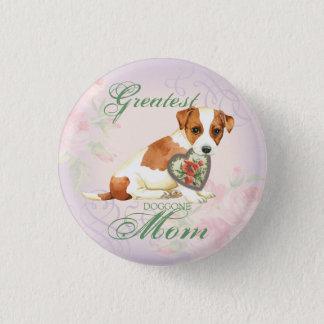 Russell Terrier Heart Mom Pinback Button