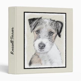 Russell Terrier (Rough) 3 Ring Binder