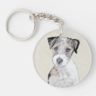 Russell Terrier (Rough) Keychain