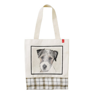 Russell Terrier (Rough) Zazzle HEART Tote Bag