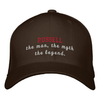 Russell the legend embroidered baseball hat