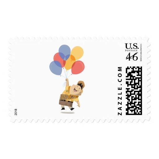 Russell Watercolor concept art - Disney Pixar UP Stamp