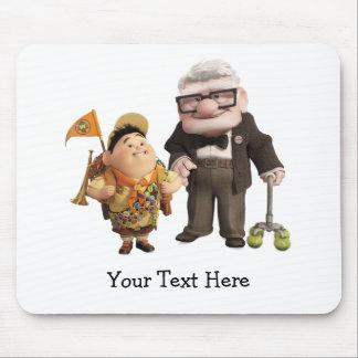 ¡Russell y Carl de Disney Pixar PARA ARRIBA! Alfombrillas De Ratón