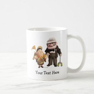 ¡Russell y Carl de Disney Pixar PARA ARRIBA! Taza De Café