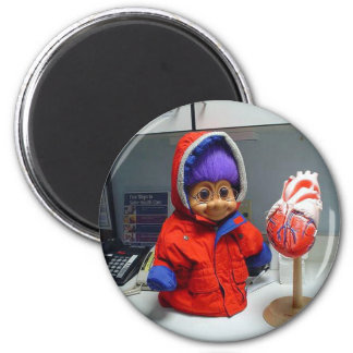 Russell's Heart Exam 2 Inch Round Magnet