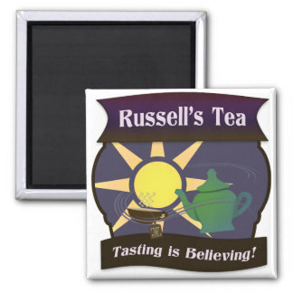 Russell's Tea 2 Inch Square Magnet