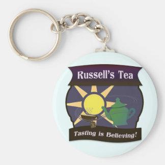 Russell's Tea Basic Round Button Keychain