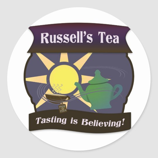 Russell's Tea Classic Round Sticker