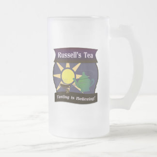 Russell's Tea Frosted Glass Beer Mug