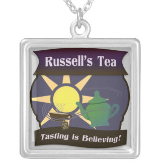 Russell's Tea Sterling Silver Pendant Necklace