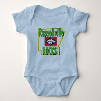 Russellville Rocks ! (green) Baby Bodysuit
