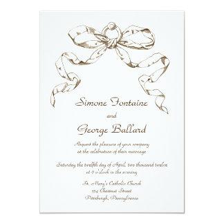 Russet Bow Swag Wedding Invitation