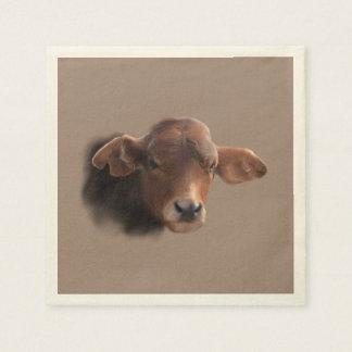 Russet Brown Cow Portrait Napkin